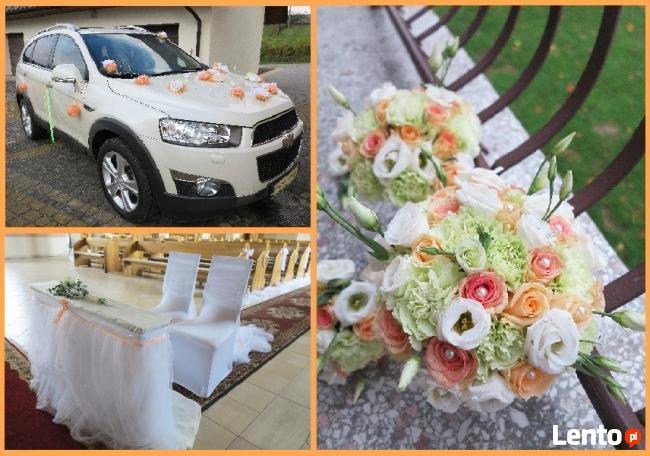 Dekorowanie sal weselnych, kościołów i samochodów