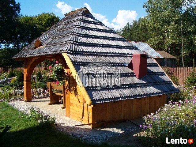 Garaż drewniany, garaże drewniane projekt wiata samochodowa