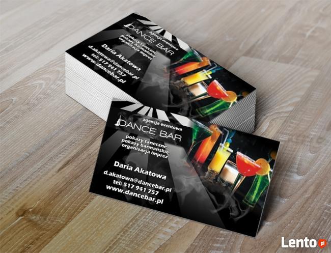 Wizytówki 220szt 40zł wydruki XEROX laminat + projekt gratis