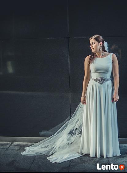 Sprzedam wyjątkową suknie ślubną Justina Aleksandra