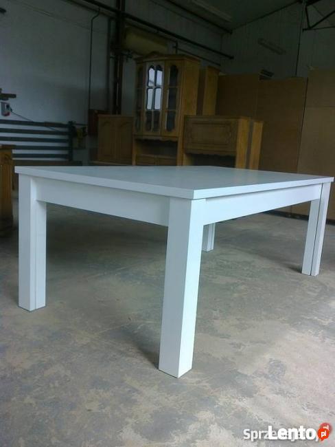 Bardzo dobra Producent mebli, stół drewniany biały, na wymiar prosty, Katowice OV09