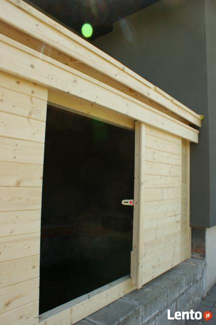 skład na drewno węgiel narzędzia opał altanki domki