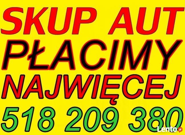 SKUP AUT TEL: 518 209 380 CAŁE I USZKODZONE AUTO SKUP KRAKÓW