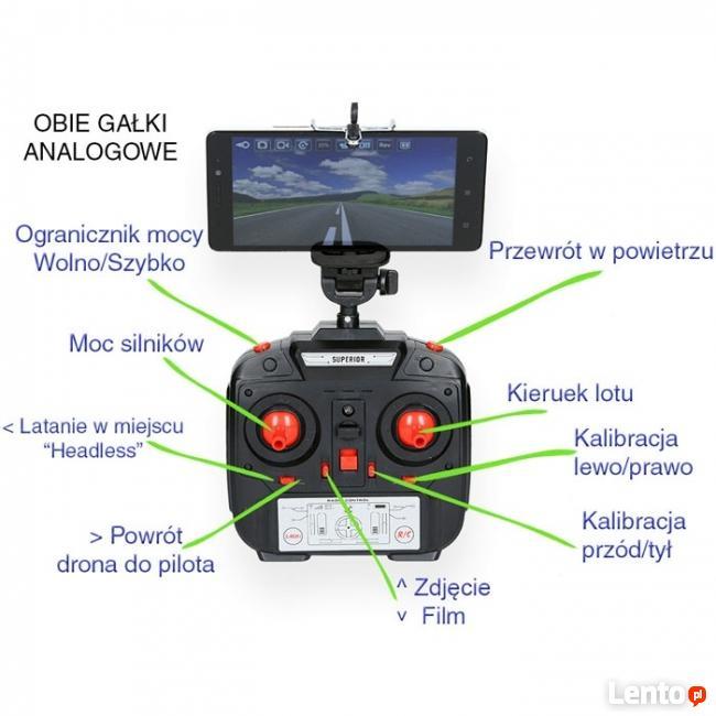 DRON QUADROCOPTER RC GALAXY Z KAMERĄ WiFi FPV ŻYWO DUŻY