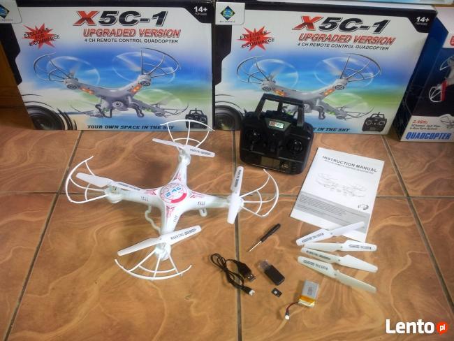 Dron z kamerą Quadrocopter X5c karta pamieci 4gb