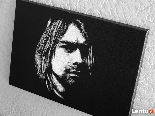 Kurt Cobain - Obraz ręcznie grawerowany na blasze...