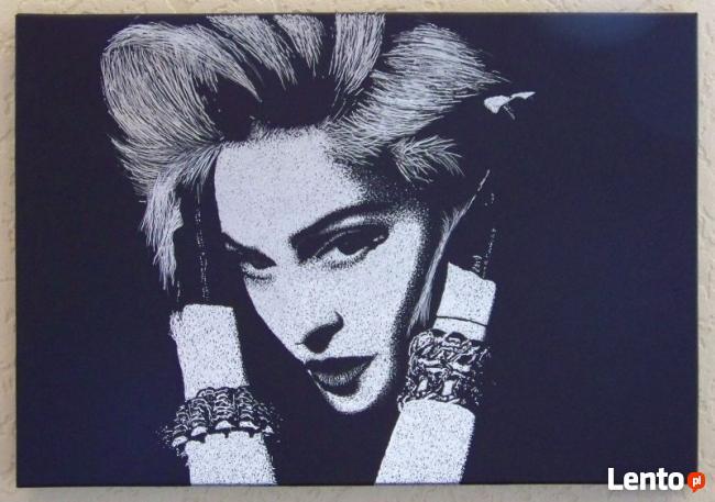 Madonna | obraz na blasze... | grawerka