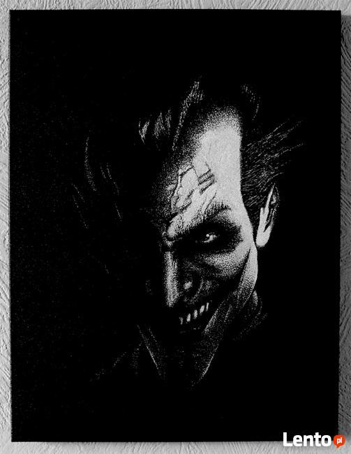 Joker | obraz na blasze... | ręczne grawerowanie