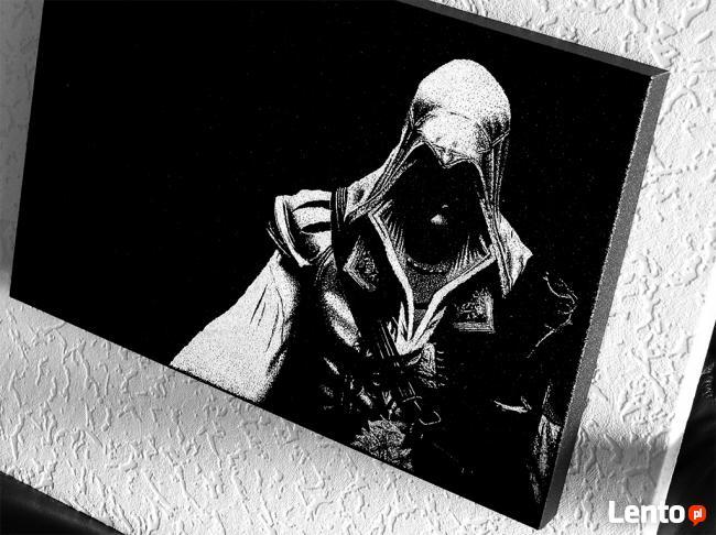 Assassins Creed - Obraz ręcznie grawerowany na blasze...