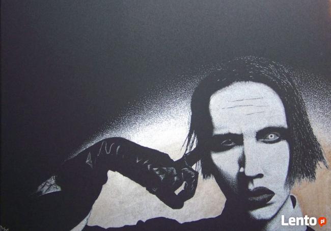 Marilyn Manson | obraz na blasze... | ręczne grawerowanie
