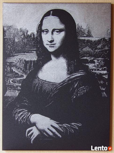 L.Da Vinci - Mona Lisa | obraz na blasze... | grawerka