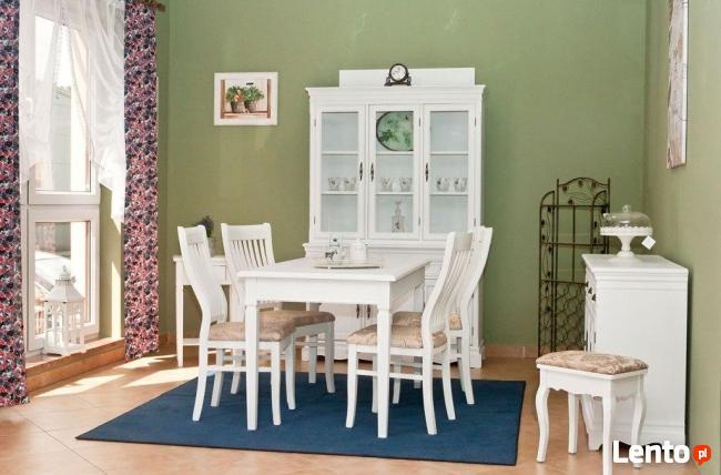 Drewniany Zestaw Do Kuchni Jadalni Stół 4 Krzesła Taboret