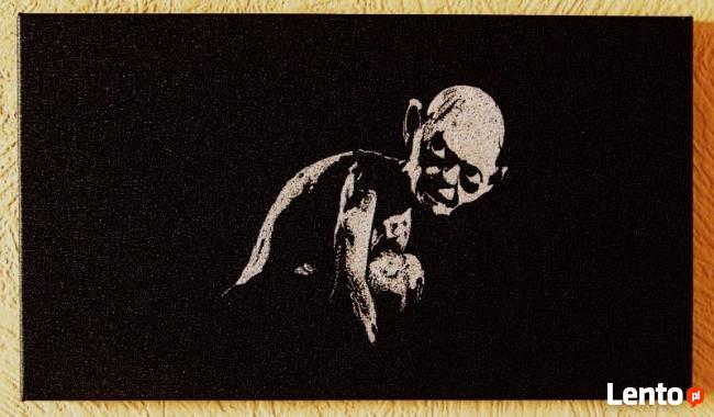 Gollum, Sméagol - Lord of the rings.Obraz wykonany ręcznie..