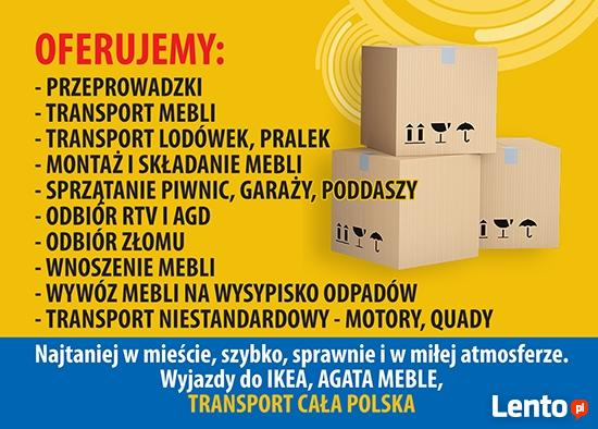 Przeprowadzki, Tani Transport Elbląg, Bagażówka, Transport C