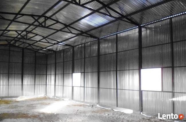 Garaże blaszane HALE WIATY 7x17 WZMOCNIONY BLACHMAR