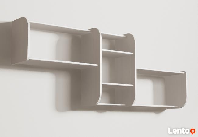 Segmentowa półka Detalion na ścianę książki dvd Wrocław