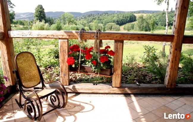 Wiosna w górach :-) Domek drewniany w górach z kominkiem – C