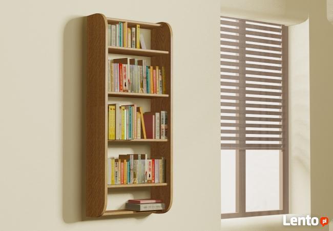 Półka Detalion na ścianę pionowa na książki drobiazgi