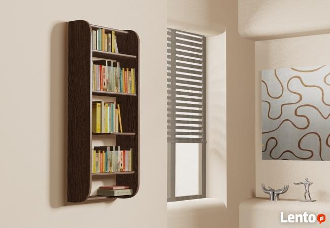 Półka Detalion na ścianę pionowa na książki dvd cd Olsztyn