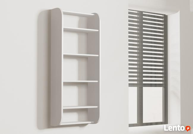 Półka Detalion na ścianę pionowa na książki dvd Gliwice