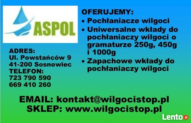 Pakiet 100 sztuk wkładów do pochłaniacza wilgoci 250g ASPOL