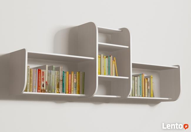 Segmentowa półka Detalion na ścianę książki dvd Poznań