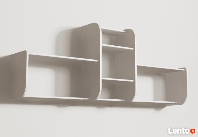 Segmentowa półka Detalion na ścianę książki dvd Opole