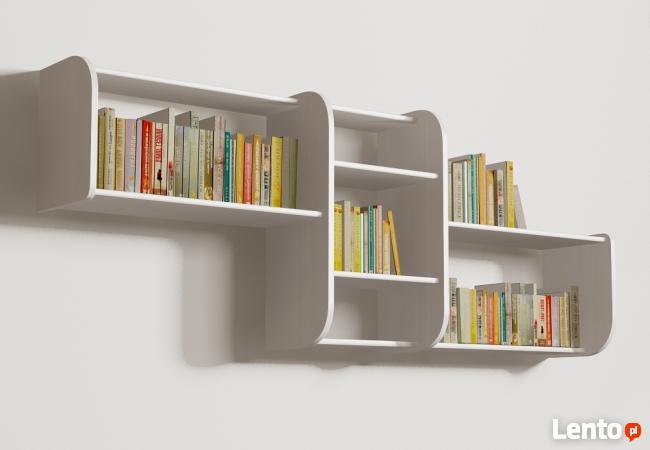 Segmentowa półka Detalion na ścianę książki dvd Gliwice