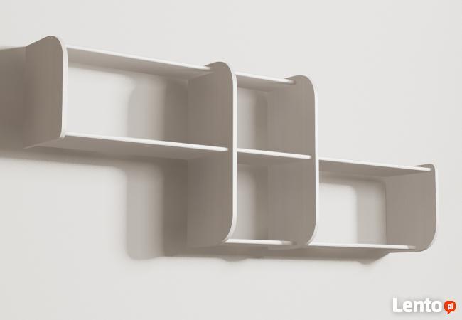 Segmentowa półka Detalion na ścianę książki dvd Gdańsk