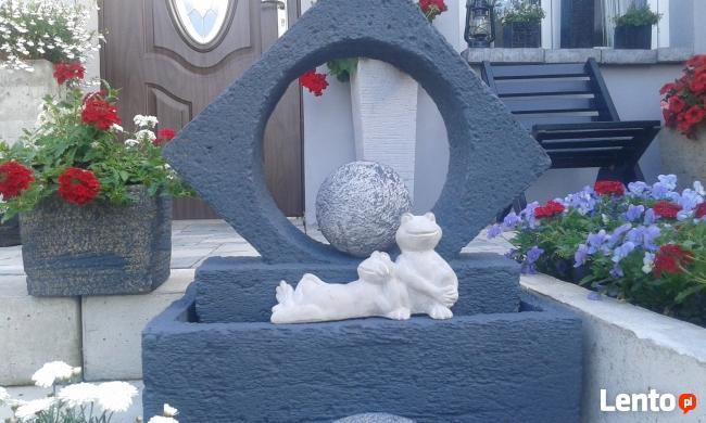 Żaba figurka do ogrodu -betonowa mrozoodporna