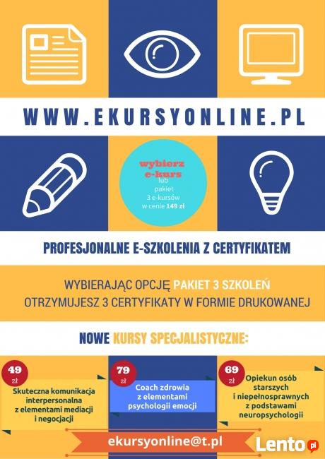 Pakiet e-kursów: opiekun, promotor, komunikacja