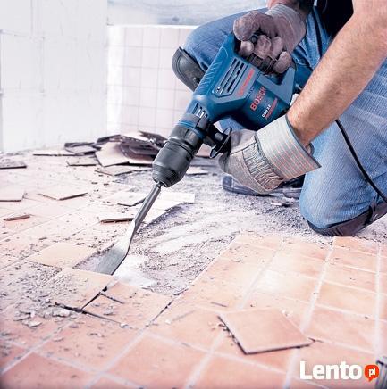 Wiercenie otworów w betonie wiertnicą ,Wyburzanie ścian