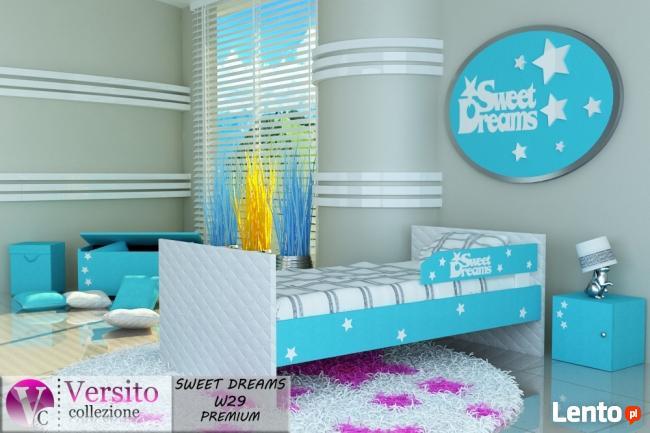 Nowoczesne łóżko piętrowe dziecięce, młodzieżowe z materacam