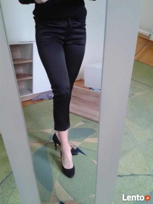 spodnie rurki satynowe S