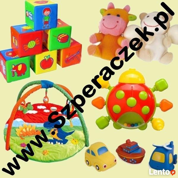 Oferuje tanie zabawki, smoczki, butelki, książki, parasolki,