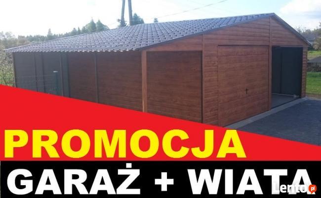GARAŻ DREWNOPODOBNY 6x5 kolor ORZECH plus WIATA!!