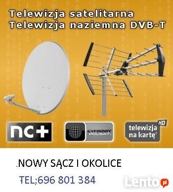 Anteny;montaż,regulacja siły i jakości sygnału satelit.