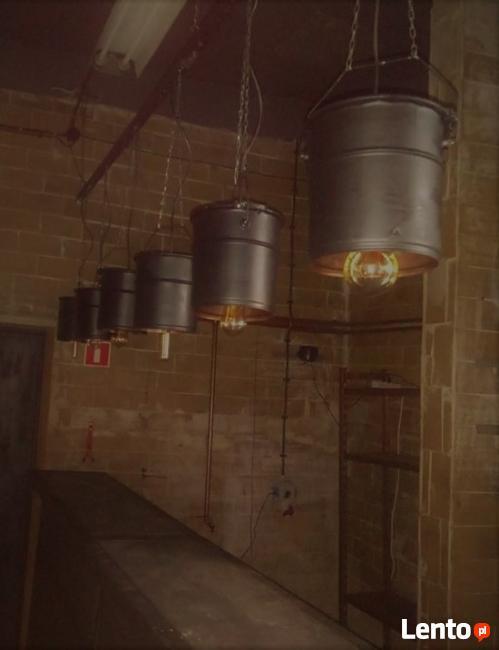 Metalowa,industrialna lampa wisząca