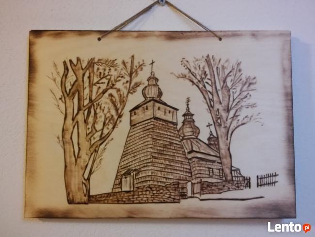 Cerkiew Sądecka -Dekoracja Regionalna Obraz wypalany