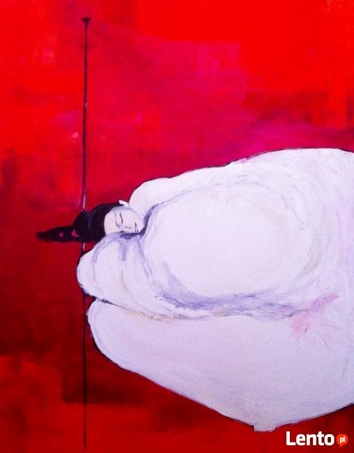 """Akryl na płótnie """"UKOJENIE"""" obraz 100x80 cm artystki A.Laube"""