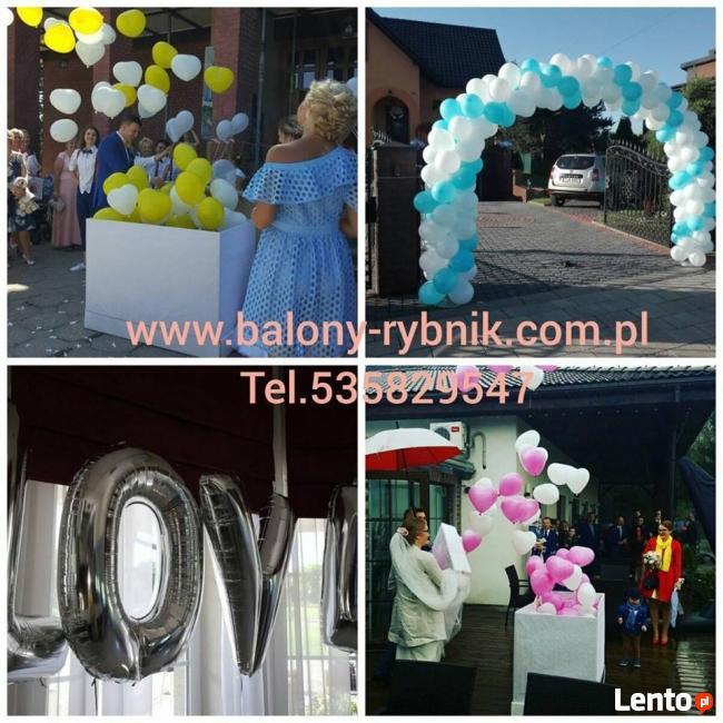 Na wesele - najlepsze balony z helem Rybnik tel. 883 644 900