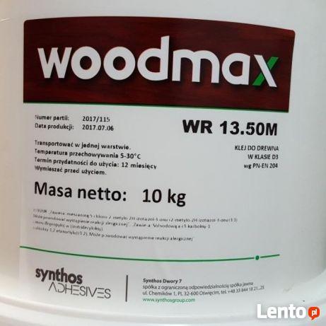Woodmax klej do drewna WR 13.50M, Klasa D3 10kg tanio kęty,