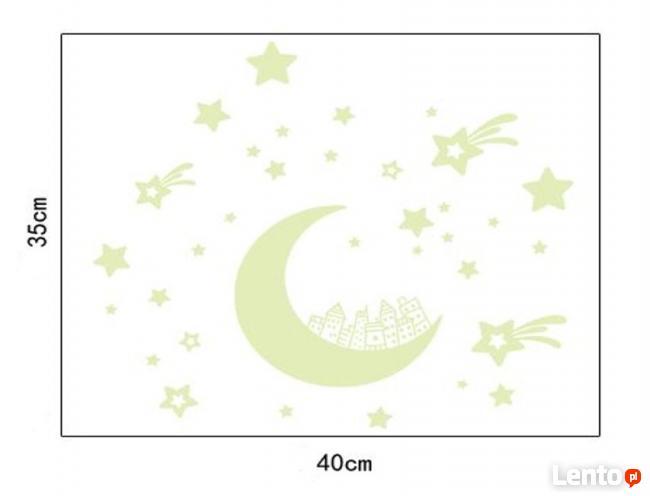 Naklejka Na Sciane Fluorescencyjne Niebo Ksiezyc Ws 0229 Lodz