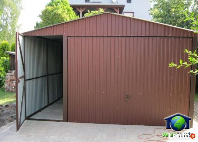 Garaże blaszane 4x6 Blaszak brąz dwuspad montaż dowóz gratis