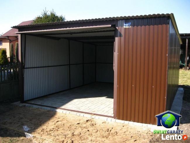 Garaże blaszane 4x5 Blaszaki RAL dostawa i montaż gratis