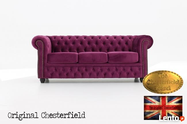 Chesterfield kanapa z materialu