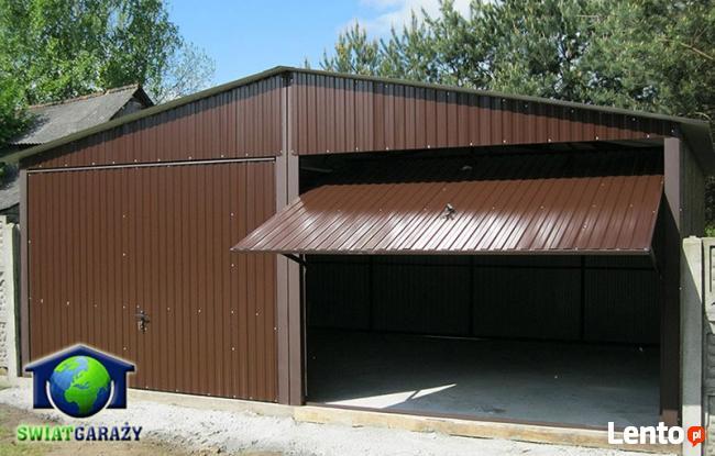 Garaże Blaszane 6x5 Blaszaki Brąz transport i montaż gratis