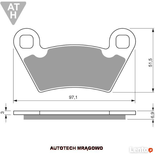 Klocki hamulcowe POLARIS RANGER XP CREW Przód -Tył Quad ATV
