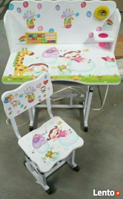 -40% stolik dziecięcy z krzesłem ZESTAW nowy biurko kraina