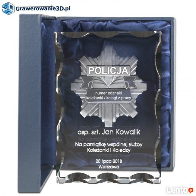 Odznaka Policyjna 3D prezent dla Policjanta emerytura